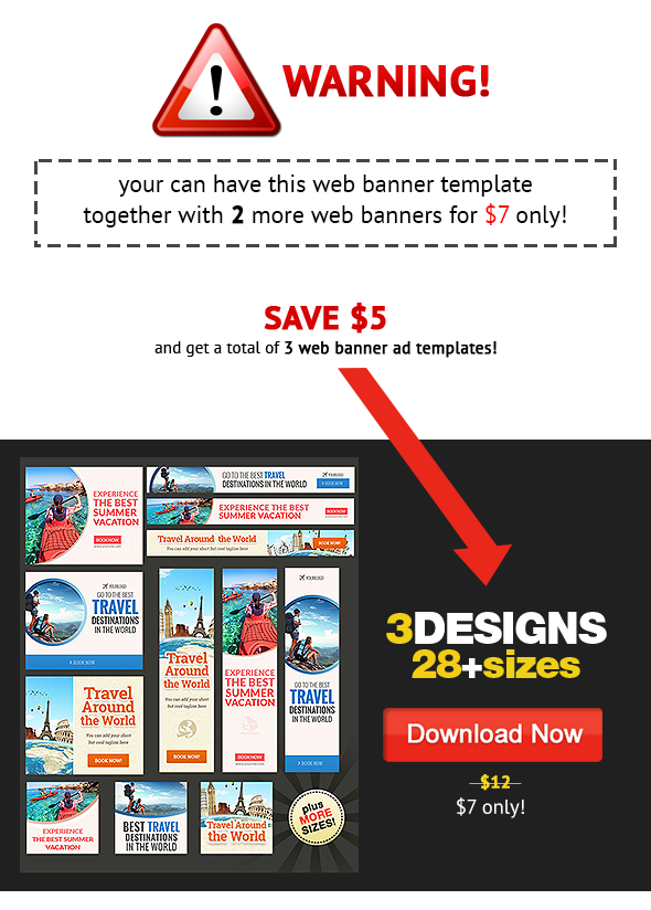 Best Travel Destination Web Banner Template