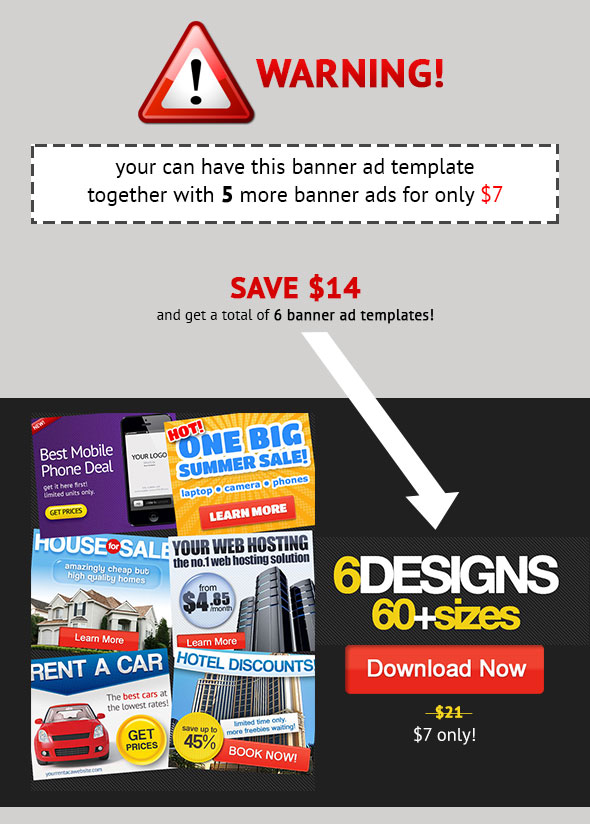 BANNER AD BUNDLE 6 banners for $7 only