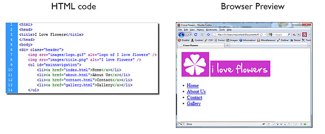 HTML coding in dreamweaver