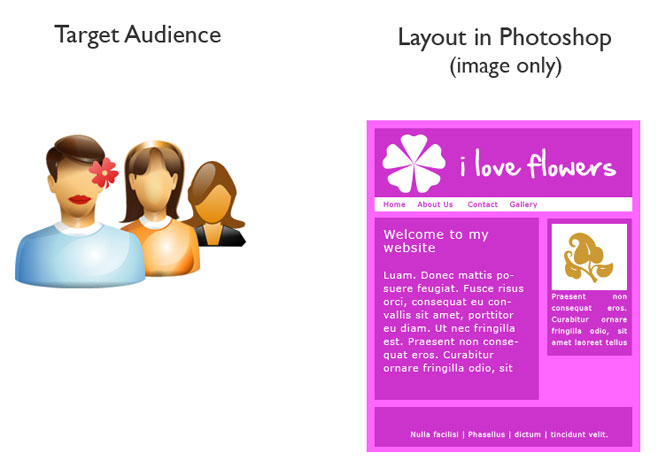 Photoshop Web Design Layout