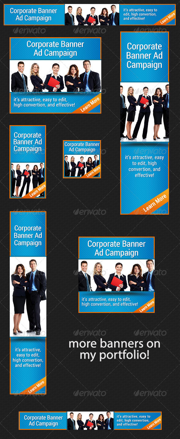 team work web banner ad template