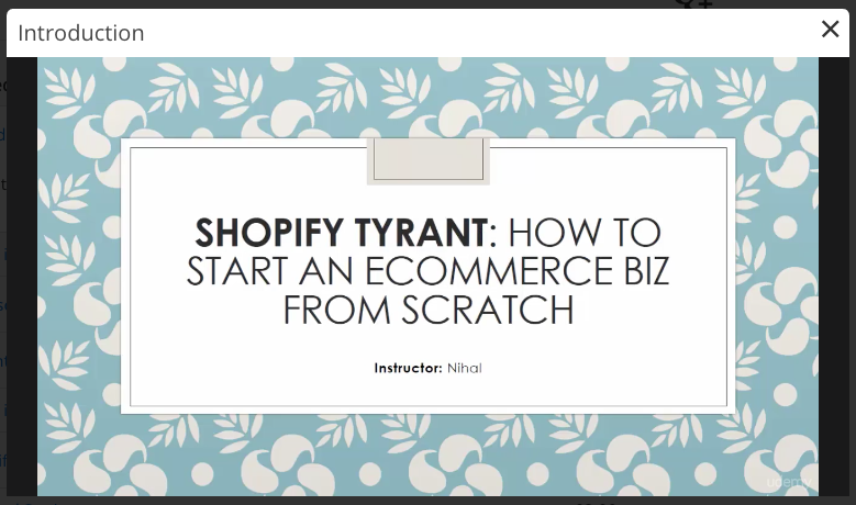 shopify tutorial from scratch