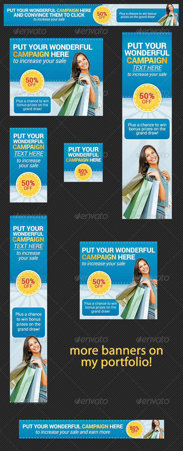 Advertising Banner Ad for Online Shopping Store